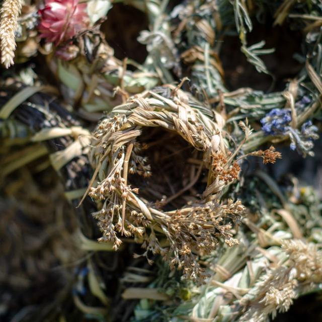 """Bumble Baskets"" at the Terra Nova Pollinator Meadow"