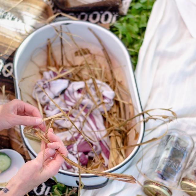 "Creating ""Bumble Baskets"" at the Terra Nova Pollinator Meadow"